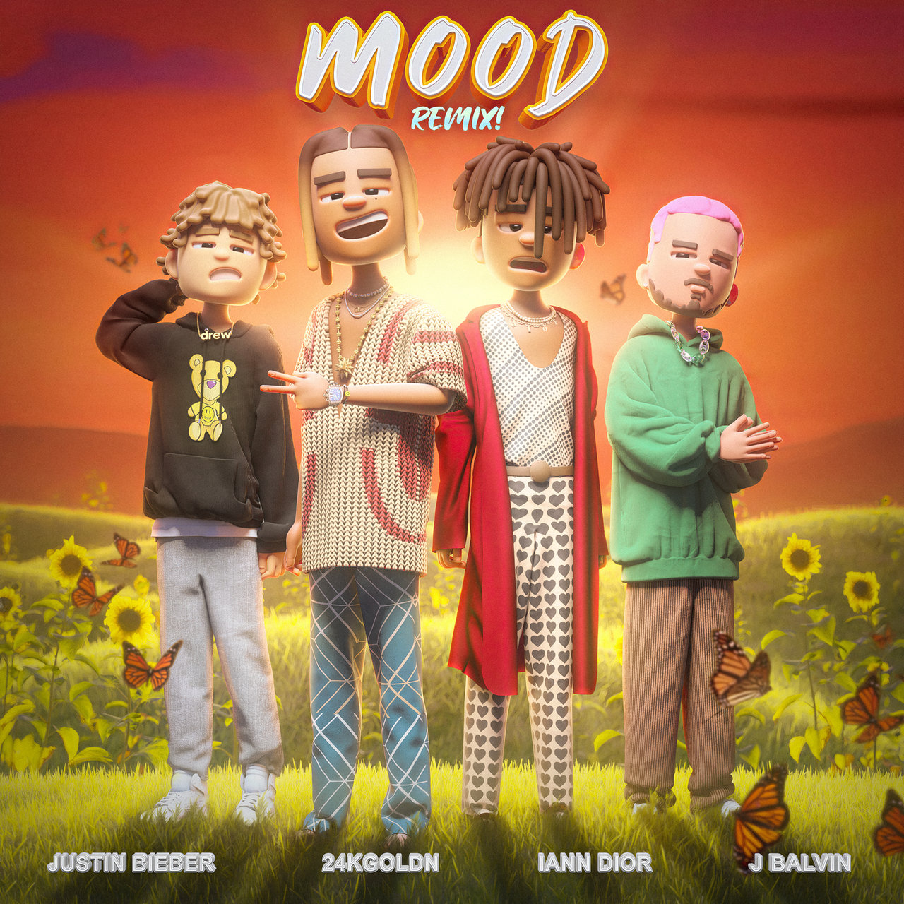 24kgoldn & Justin Bieber y J Balvin & Iann Dior - Mood (Remix).mp3